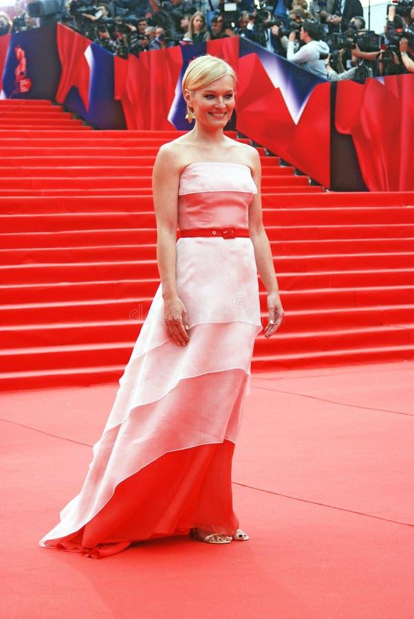 女演员莫斯科电影节的维多利亚Tolstoganova 免版税库存图片