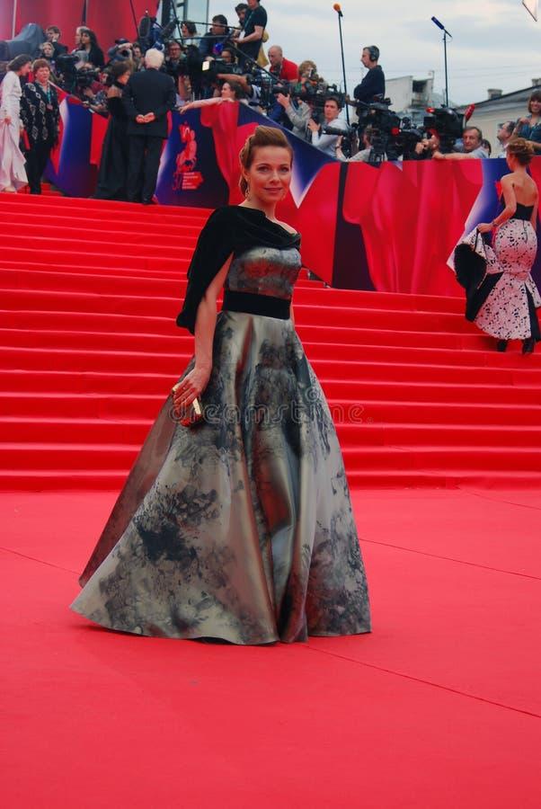 女演员莫斯科电影节的Ekaterina Guseva 免版税库存照片