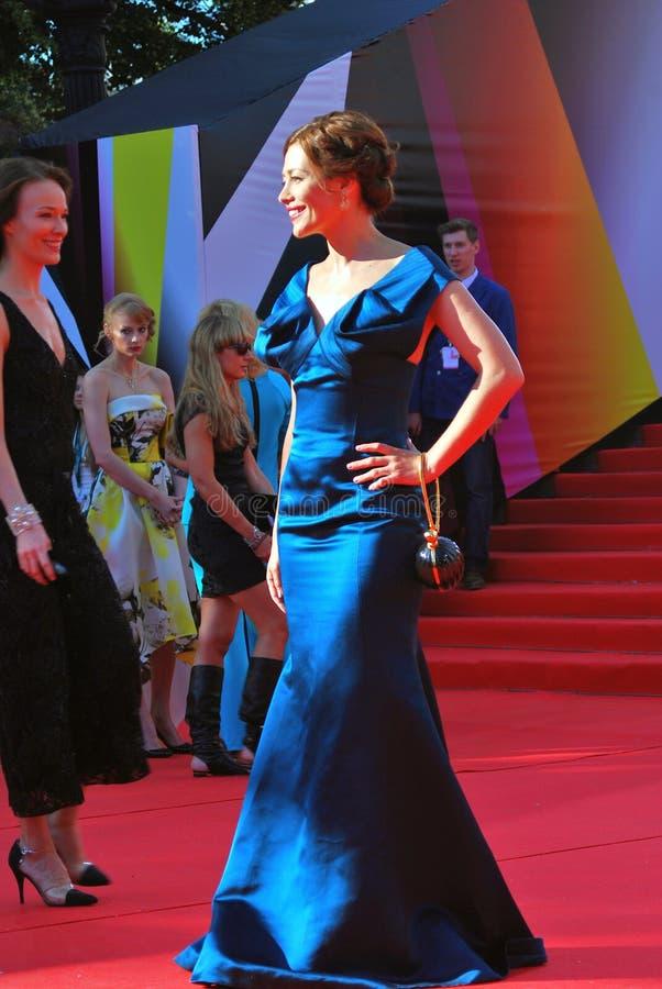 女演员莫斯科电影节的Ekaterina Volkova 库存照片