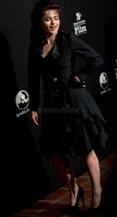 女演员bonham地毯卡特海伦娜红色 免版税库存照片