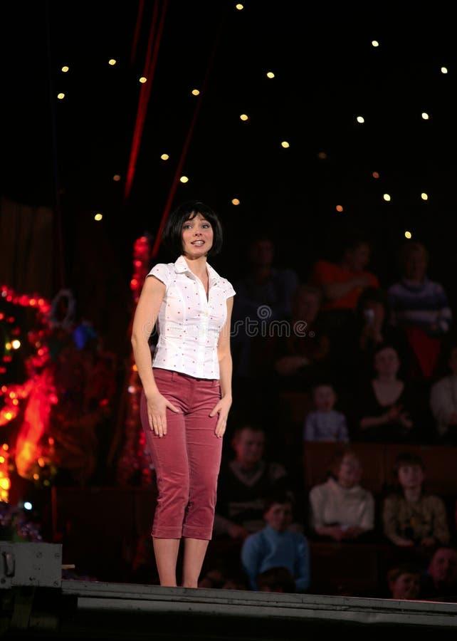 女演员ekaterina guseva俄语 免版税库存照片