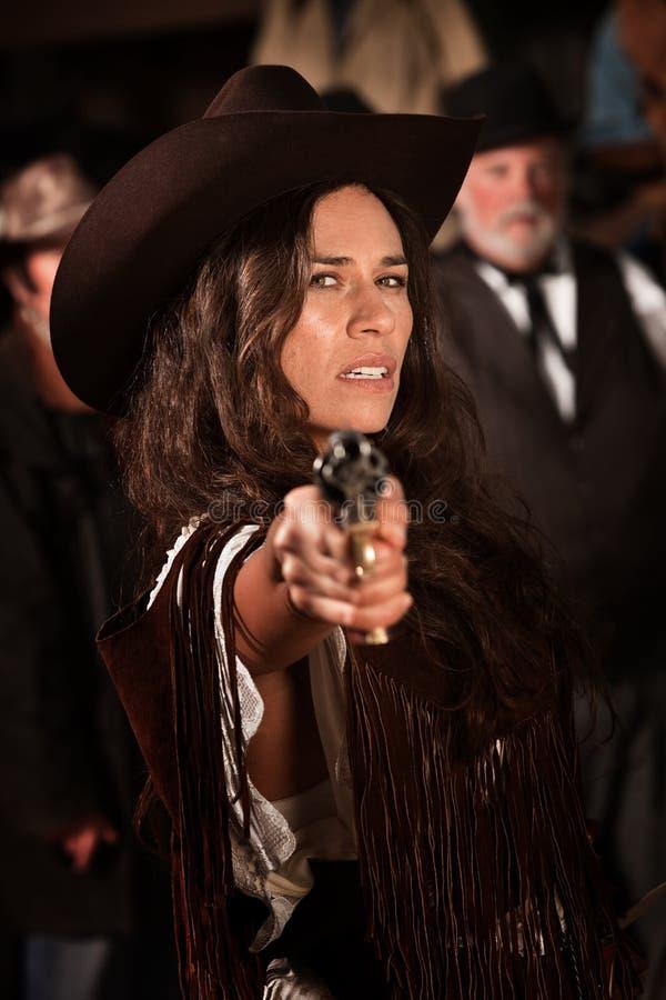 女牛仔墨西哥 库存照片