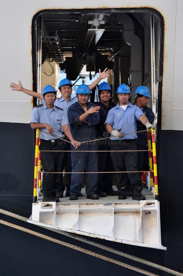 女王伊丽莎白划线员乘员组 库存图片