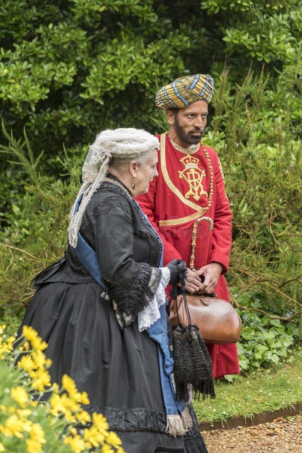女王维多利亚和阿卜杜勒印地安仆人奥斯本议院 免版税库存图片