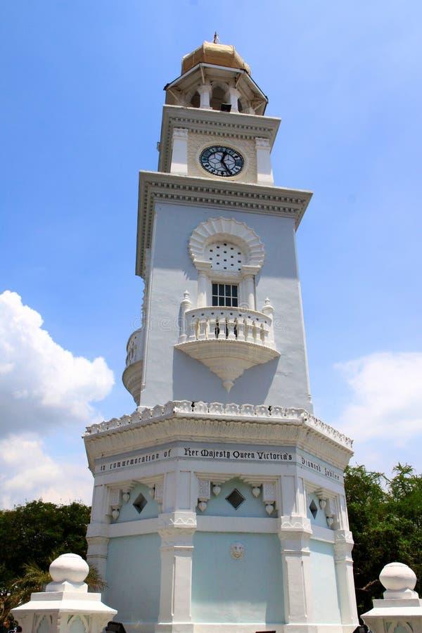 女王维多利亚纪念钟塔,槟榔岛 免版税库存图片