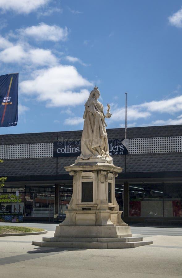 女王维多利亚雕象, Ballarat,澳大利亚 库存图片