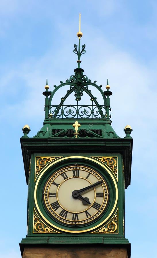女王维多利亚周年纪念时钟, Otley,约克夏, En封垫 库存照片
