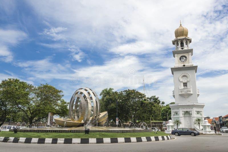 女王维多利亚纪念钟楼- 库存图片