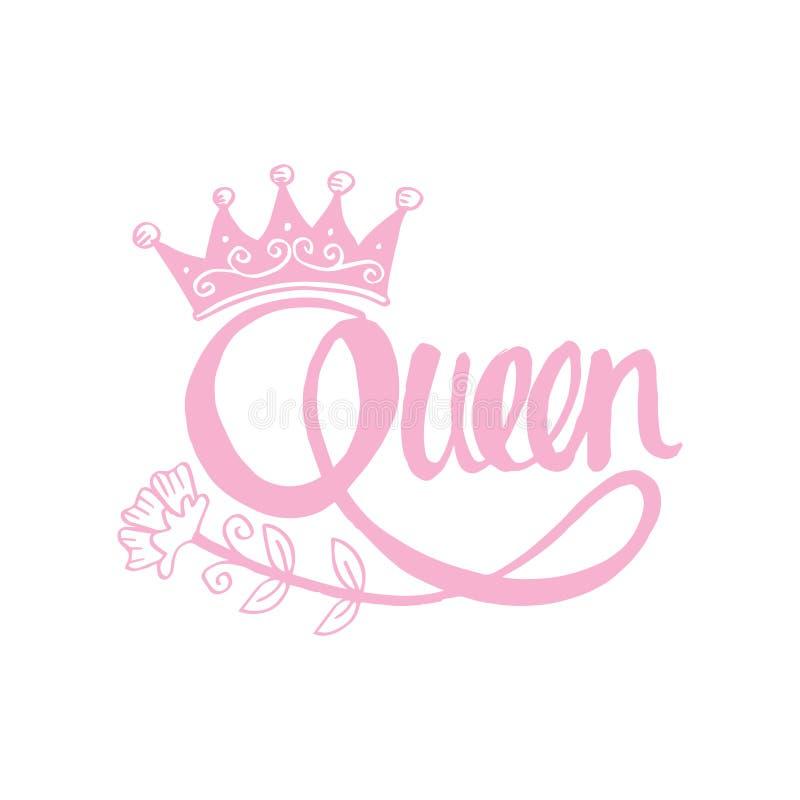 女王/王后手字法 皇族释放例证