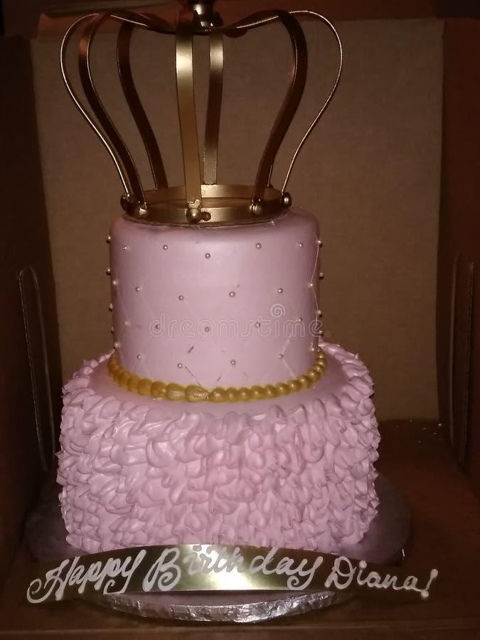 女王/王后生日蛋糕 库存照片