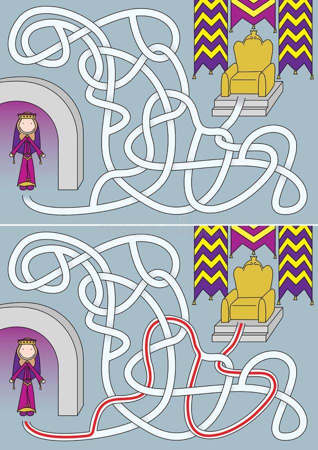 女王/王后迷宫 向量例证