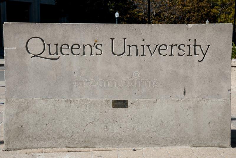 女王/王后` s大学标志-金斯敦-加拿大 库存图片