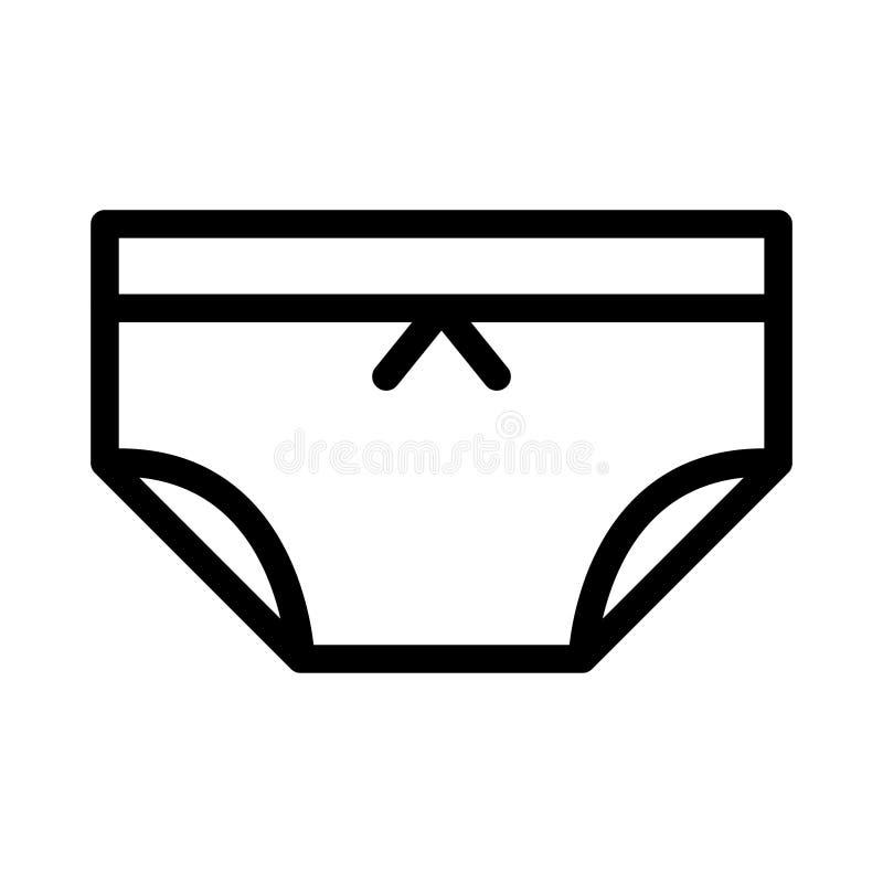 女用贴身内衣裤稀薄的线传染媒介象 库存例证