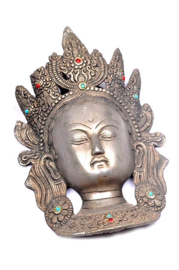 女神印地安人雕象 免版税库存照片