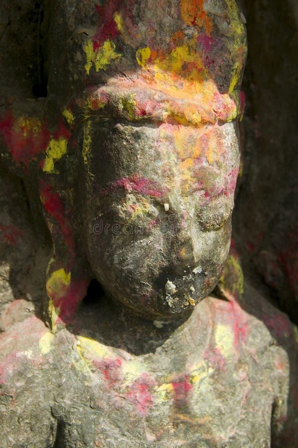 女神印度雕象 免版税库存照片
