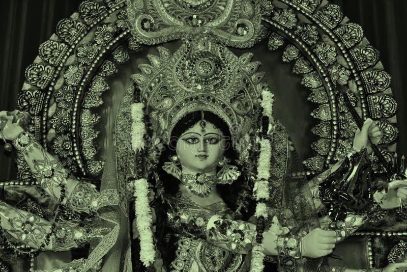 女神在另外版本的杜尔加景色 库存图片