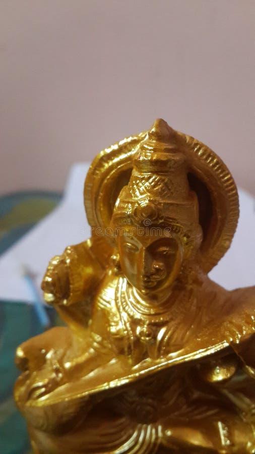 女神教育印度教的Saraswati神 图库摄影