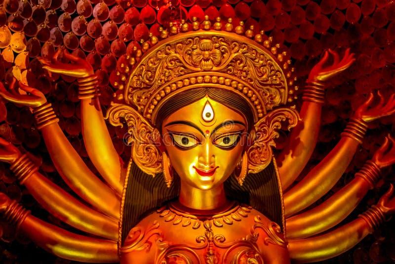 女神杜尔加,杜尔加Puja,加尔各答 免版税库存图片