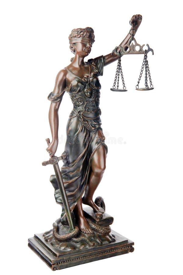 女神正义 库存图片