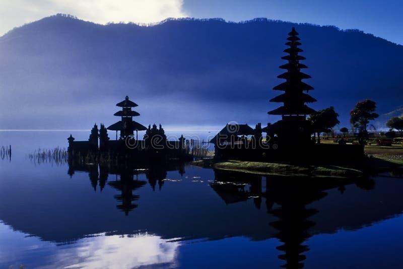 女神浇灌的印度尼西亚寺庙 库存照片