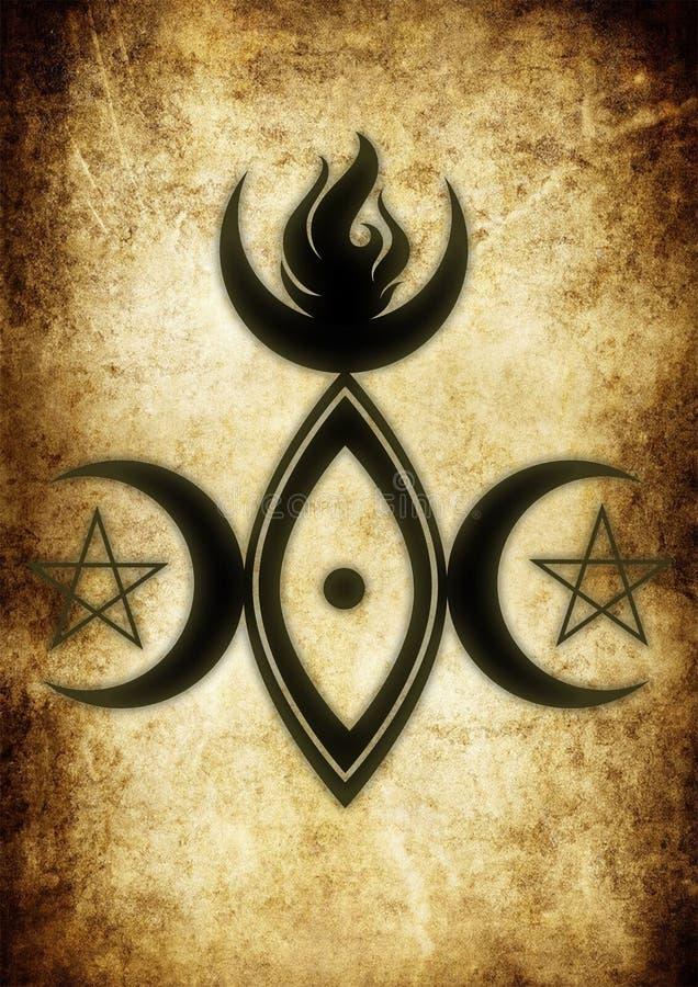 女神的标志 库存例证