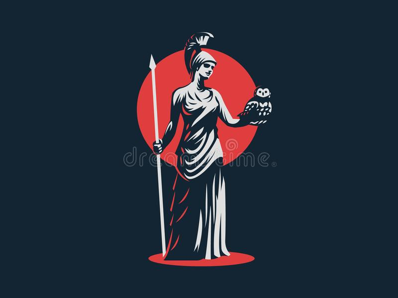 女神雅典娜 库存例证