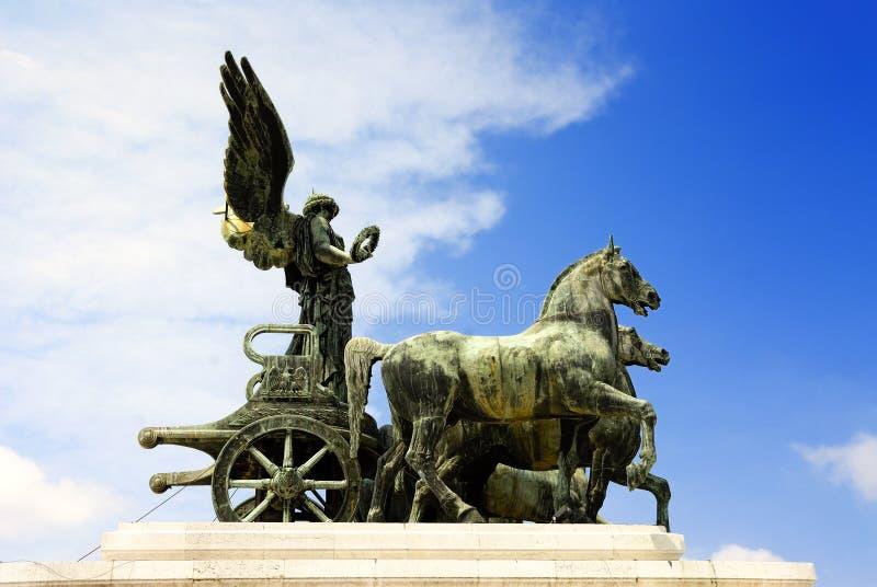 女神雕象维多利亚 免版税库存图片