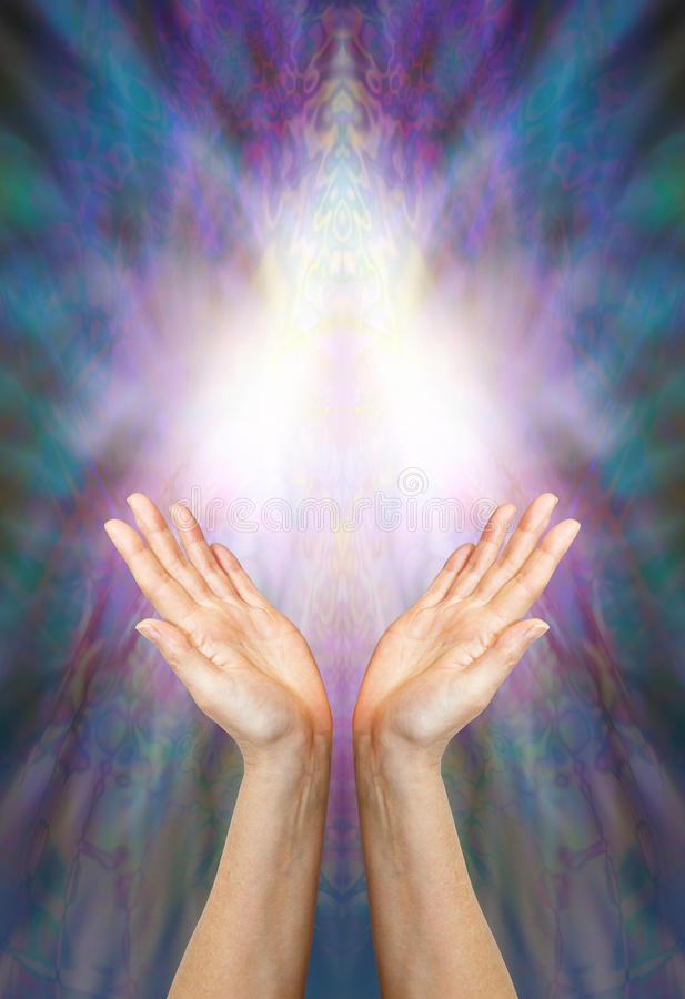 女神医治用的能量 库存照片