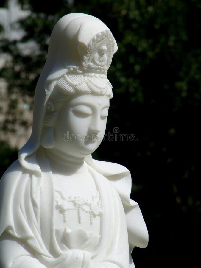 女神guanyin雕象 免版税库存图片
