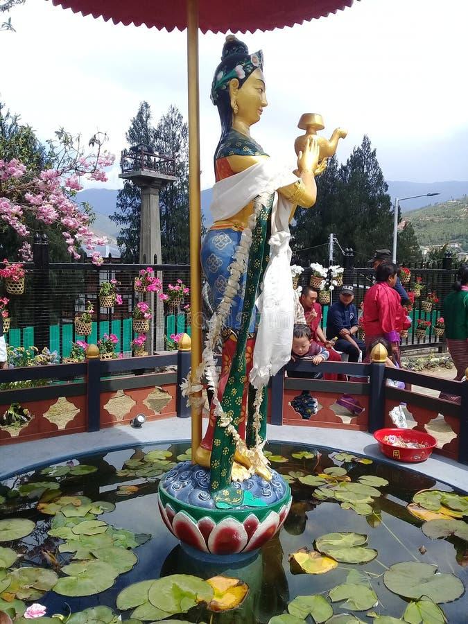 女神swarasati 免版税图库摄影