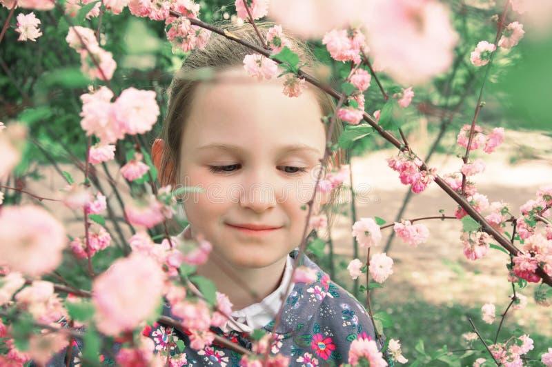 女花童粉红色 库存照片