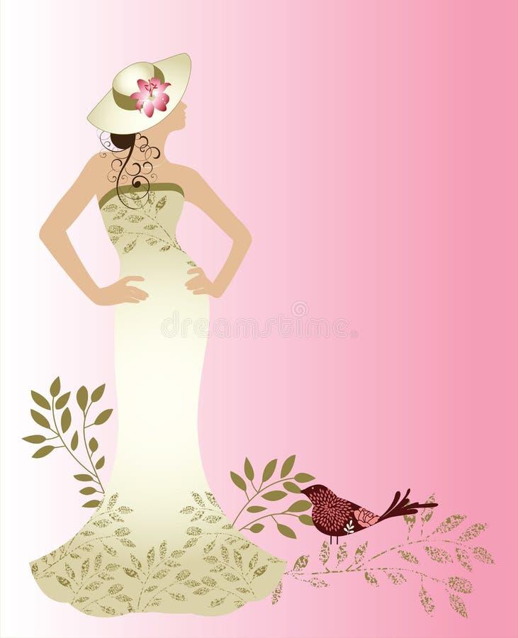 女装设计妇女 库存例证
