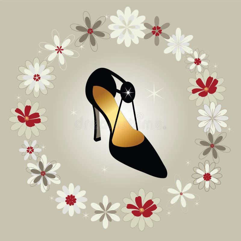 女装设计方式鞋子 向量例证