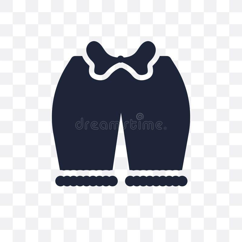 女裤透明象 女裤从衣裳c的标志设计 向量例证