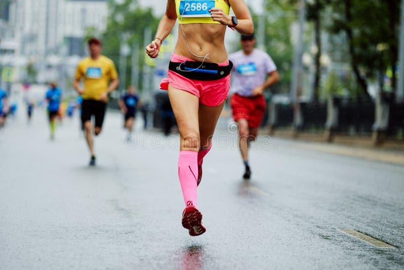 女运动员赛跑者 库存图片