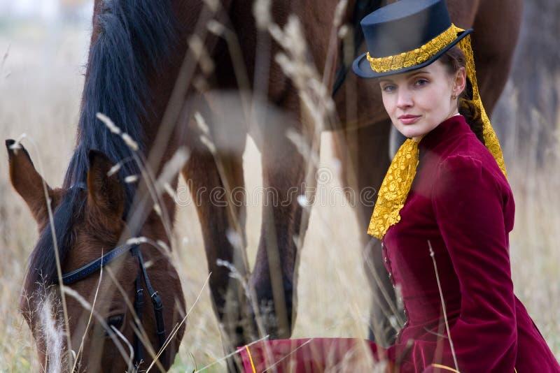 女骑士 图库摄影