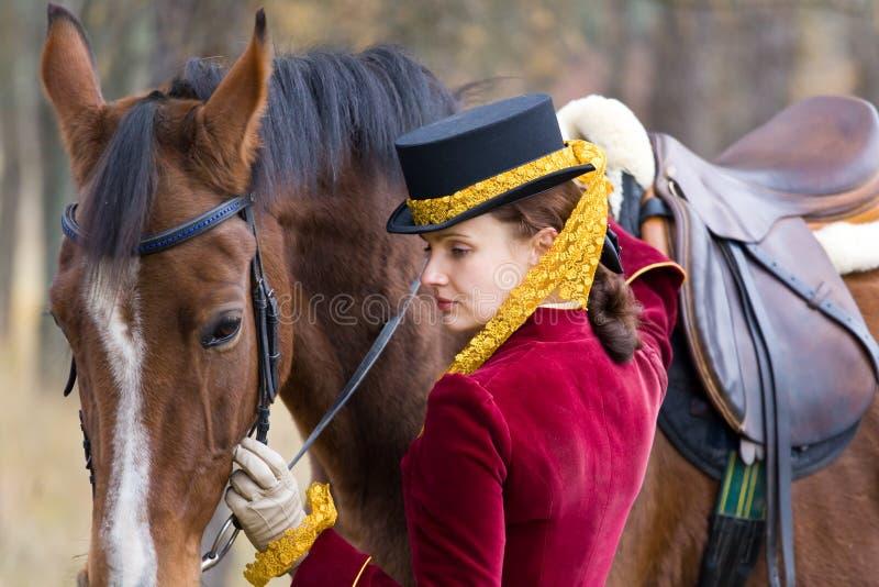 女骑士 免版税库存照片