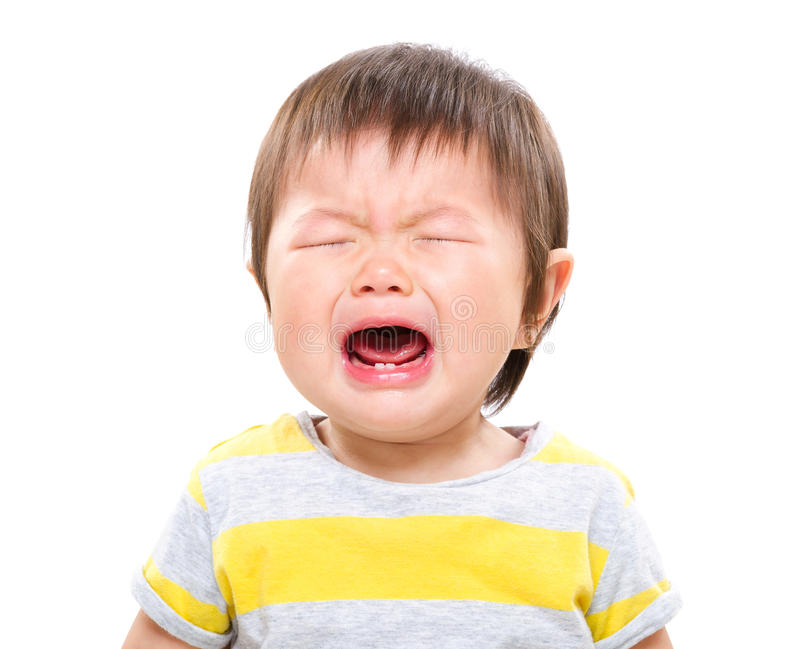 女婴啼声 免版税库存图片