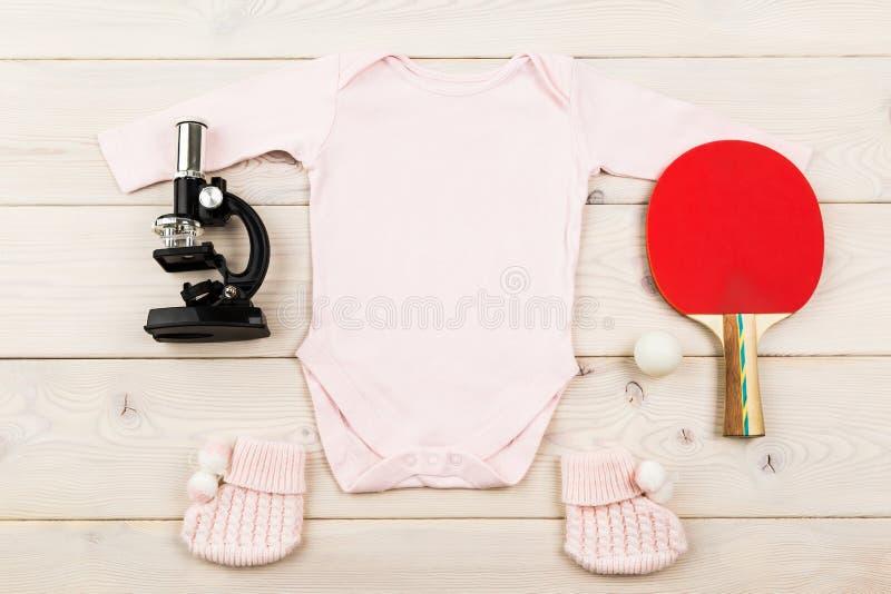 女婴未来职业 库存照片