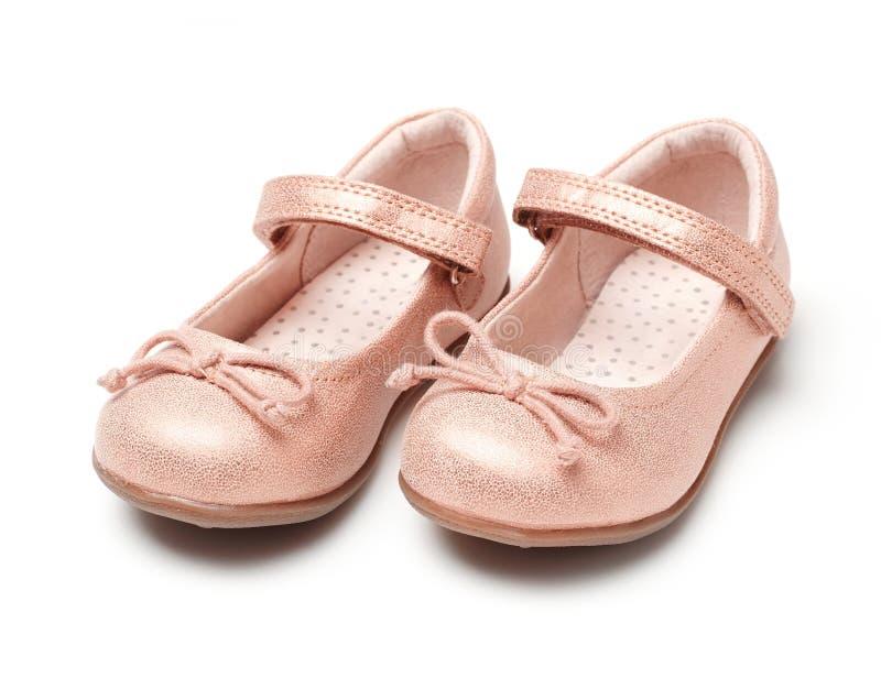 女婴鞋子 图库摄影