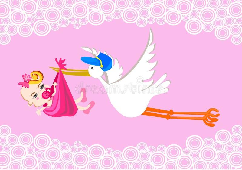 女婴鹳 向量例证