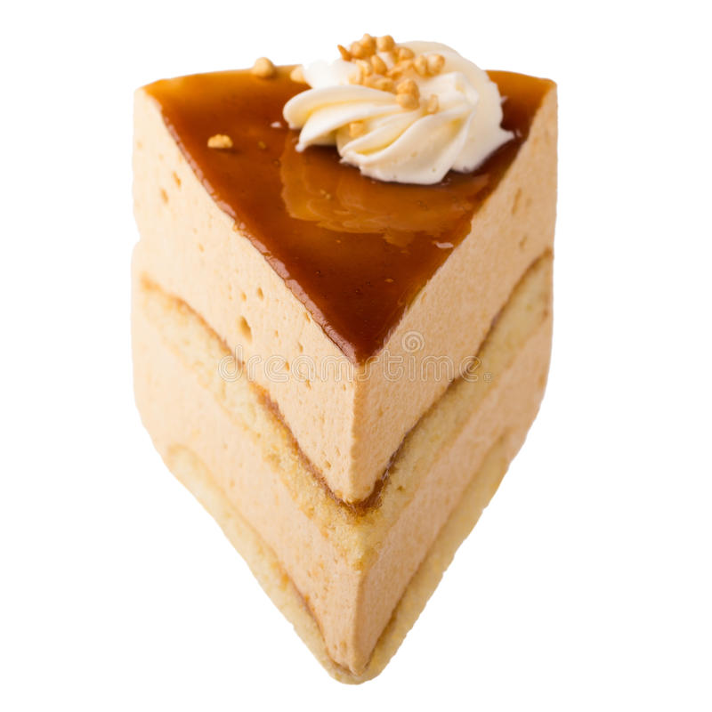 奶油甜点蛋糕片断  免版税库存照片