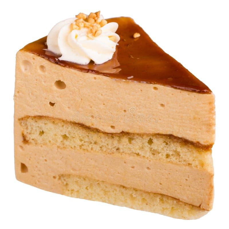 奶油甜点蛋糕片断  免版税库存图片