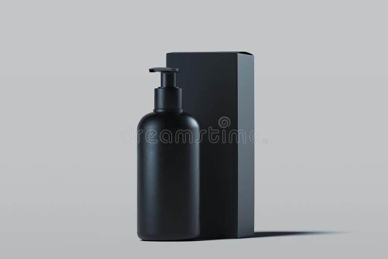 奶油的,胶凝体,化妆水化妆分配器 美容品包裹 3d翻译 向量例证