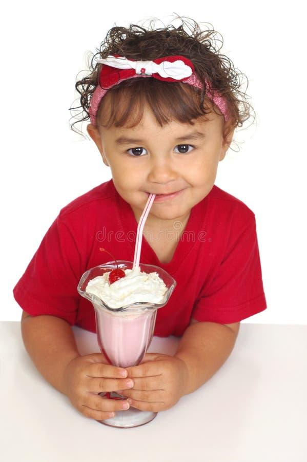 奶油色冰孩子奶昔 免版税图库摄影