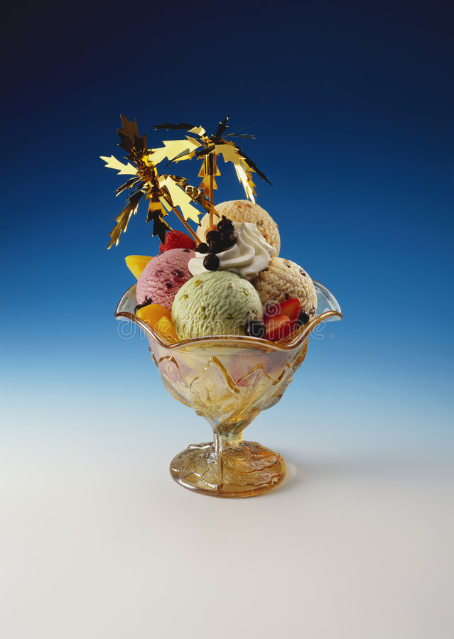奶油色冰混合 免版税图库摄影