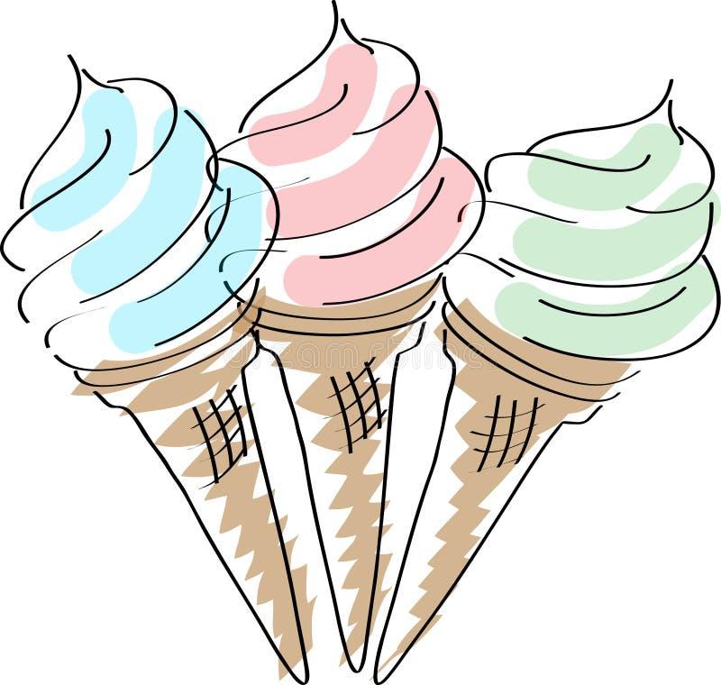 奶油色冰 向量例证