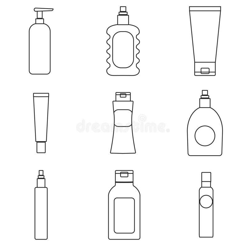 奶油色包装的瓶 库存例证