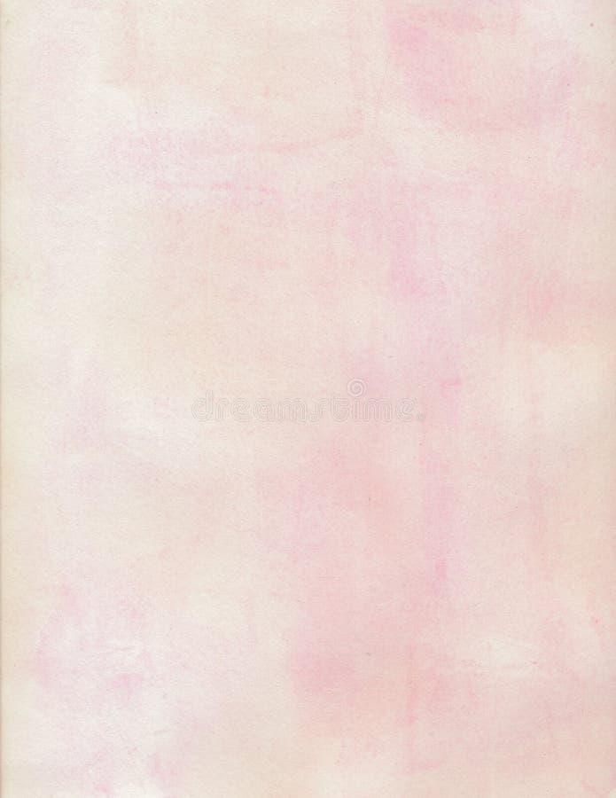 奶油色和桃红色水彩软的脏的背景 库存图片