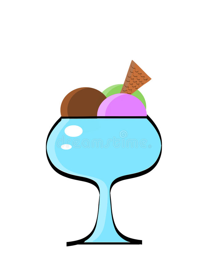 奶油色杯子冰 免版税库存照片